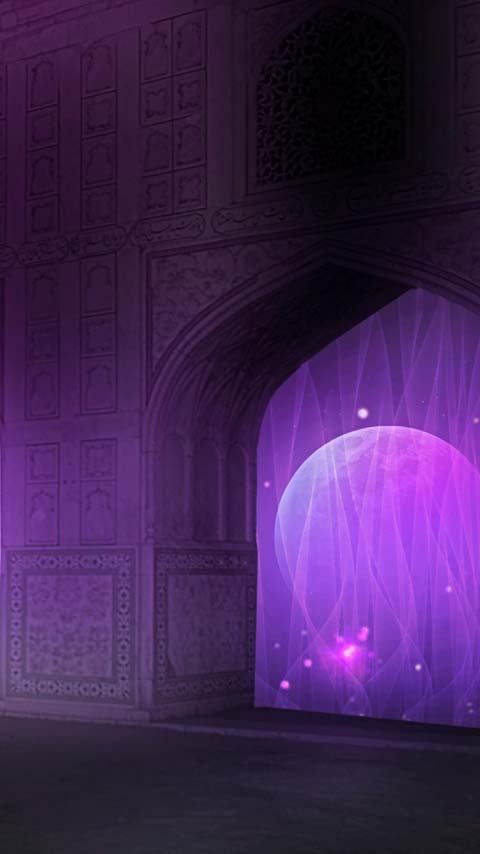 gateway purple universe stars moon wallpaper background phone