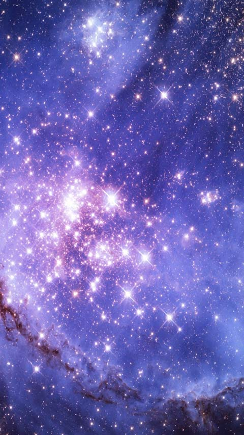 cosmic matter space galaxy purple stars nebula wallpaper background phone