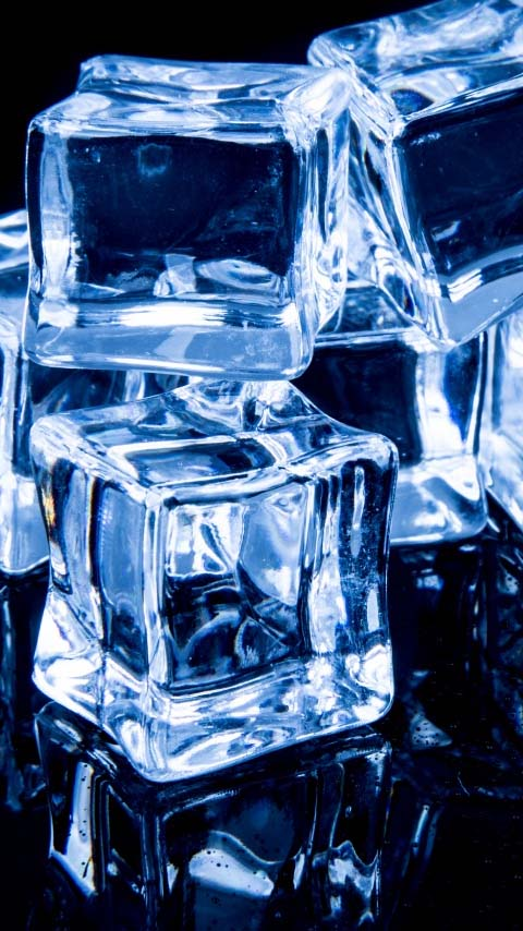 cubes ice cube blue dark black see-through wallpaper background phone