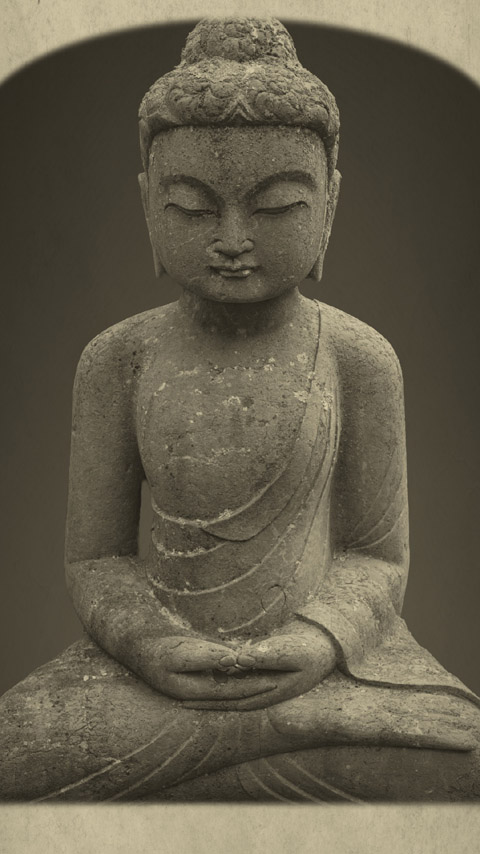 Buddha meditating Buddhism wallpaper phone background