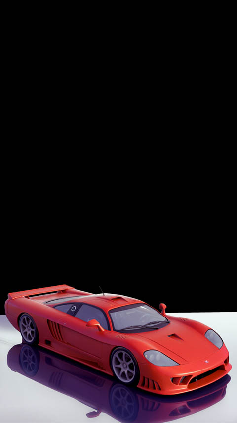 sports car red dark black white wallpaper background phone