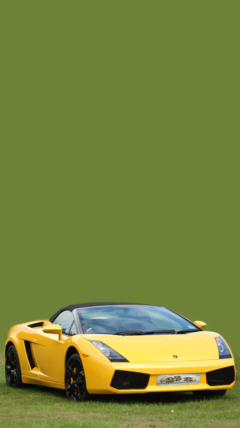 Lamborghini sports car yellow green wallpaper background phone