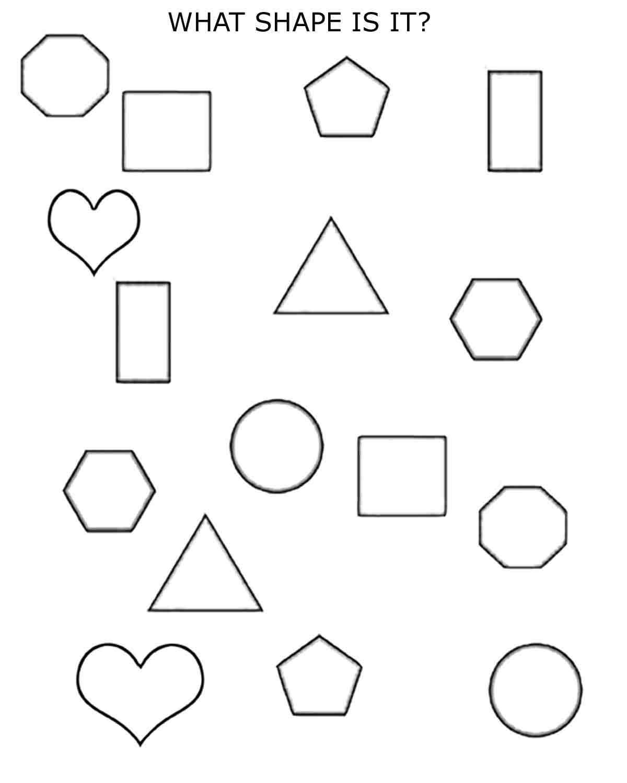 2D shapes 2nd grade free printable worksheet