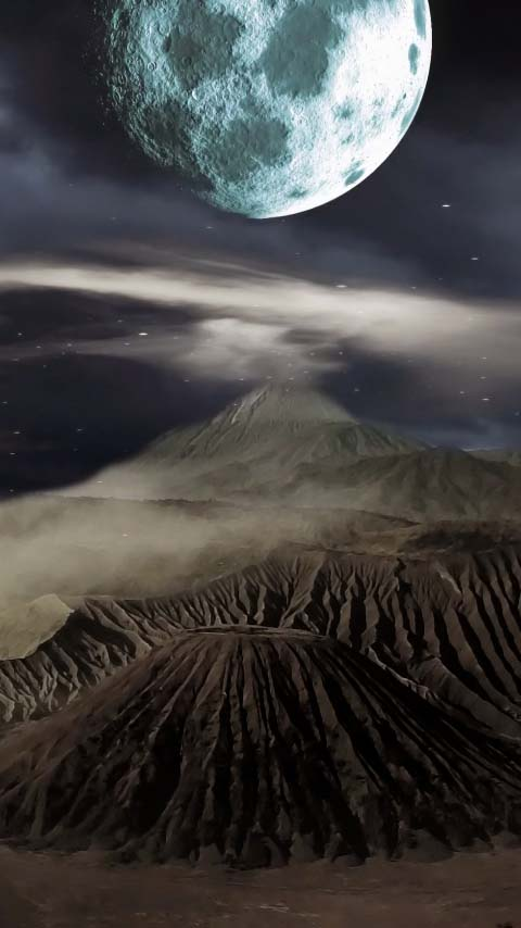 mysterious universe wallpaper background phone moon