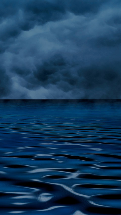 cloudy sky dark blue ocean wallpaper phone background