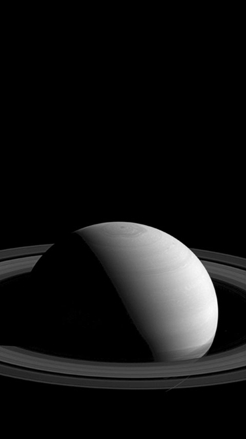Saturn planet dark black universe wallpaper phone background
