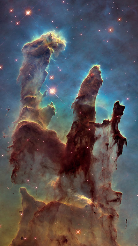 Eagle Nebula space universe wallpaper phone background