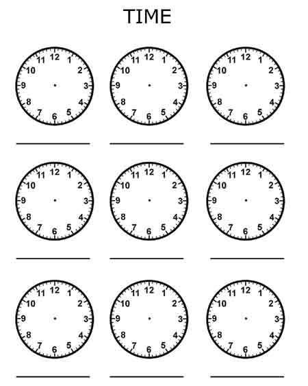 Time Worksheets For Kindergarten Pdf